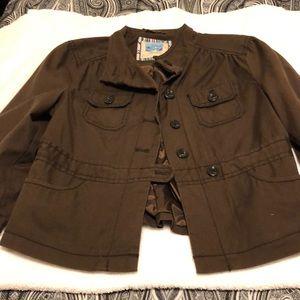 Ladies brown casual jacket